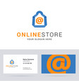 Logo and business card template for online shop vector image