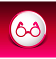 Round Glasses Icon Symbol vision specs decoration vector image