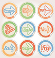 set sticker paper grunge vector image