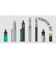 vaporize set e-cigarette tools vector image