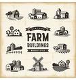 Vintage Farm Buildings Set vector image