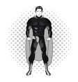Superhero man cartoon design vector image