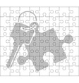 stencil of puzzle key vector image