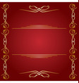 red background with golden decorations vector image