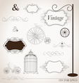 vintage design elements set vector image