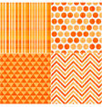 seamless orange texture pattern background vector image vector image