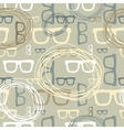 Hipster glasses seamless pattern vector image