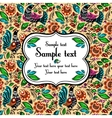 Folk painting seamless with sample text vector image