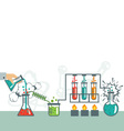 Chemistry infographic icon set vector image