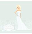 Beautiful blond bride card vector image