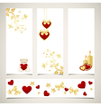 set of valentines banners vector image vector image