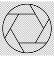 Photo line icon vector image