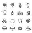 Icon set - devices accessory vector image