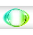 abstract round on white green vector image