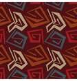 Abstract seamless pattern in tribal style vector image