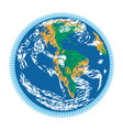 americas earth doodle vector image