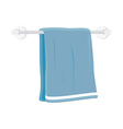 Bath towel vector image