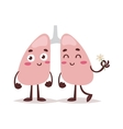 Clean healthy lungs vector image