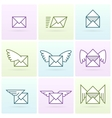 Flying email messages icon set vector image