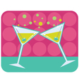 Martinis with olives vector image