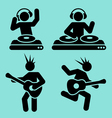 music pictograms vector image
