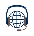 planet sphere with headset vector image