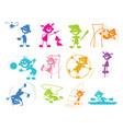 playing cartoon children vector image