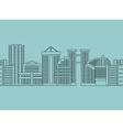 Seamless horizontal ornament City skyscrapers vector image