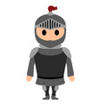 soldier with armor vector image