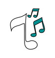 color silhouette image of musical notes vector image