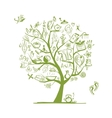 Massage and spa concept art tree for your design vector image