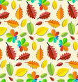 Colorful Seamless Leaves Pattern vector image
