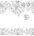 Background with bouquet of flowers-03 vector image