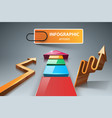 3d arrows - business infographic vector image