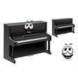Cute black piano cartoon character vector image vector image