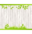 Wood fence with grass vector image vector image