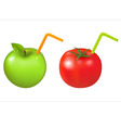apple and tomato vector image vector image