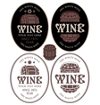 labels for wine barrel vector image vector image