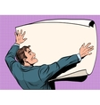 Man with business plan vector image
