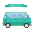 Family Travel Bus in Flat Design vector image