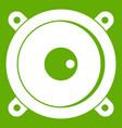 audio speaker icon green vector image