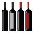 bottle of wine color vector image
