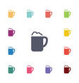 cappuccino flat icons set vector image