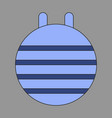 icon in flat design fitball vector image