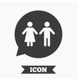 Toilet sign icon Restroom symbol vector image