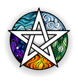 Bright Pentagram vector image