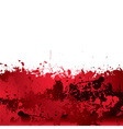 Blood splatter background vector image vector image
