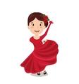 woman cartoon dancer flamenco design vector image