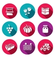 Set of Agriculture Icons Market Roses vector image