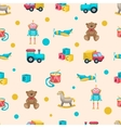Kids Toys Pattern vector image